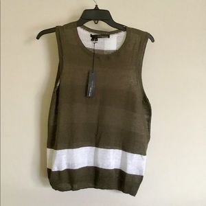 NWT 360SWEATER Striped sleeveless Sweater